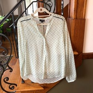 Limited Sheer Polka Dot Blouse